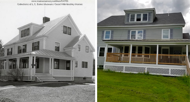 Keyes Cottage: then and now