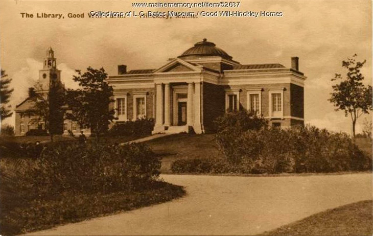Historic photo of the library at Good Will-Hinckley